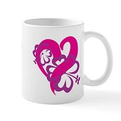 Mom Flowers and hearts Mug