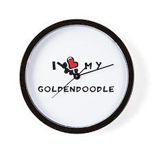I *heart* My Goldendoodle Wall Clock