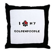 I *heart* My Goldendoodle Throw Pillow