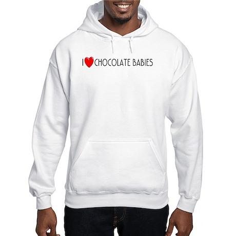 I Love Chocolate Babies Hooded Sweatshirt