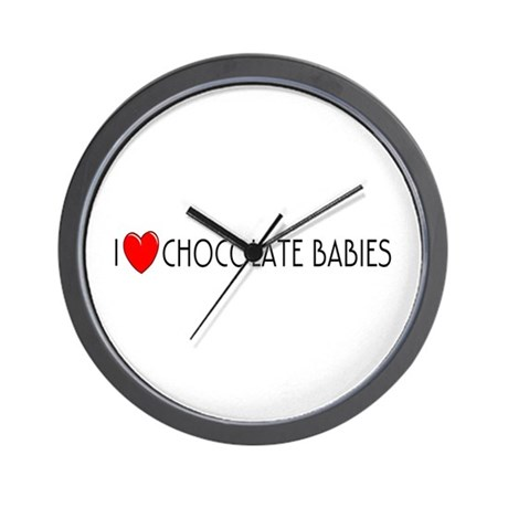 I Love Chocolate Babies Wall Clock