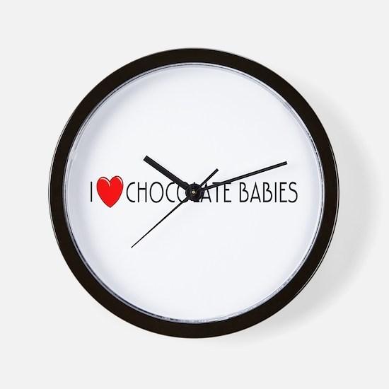 I Love Chocolate Babies Wall Clock