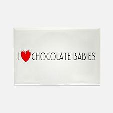 I Love Chocolate Babies Rectangle Magnet