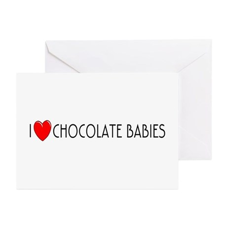 I Love Chocolate Babies Greeting Cards (Package of