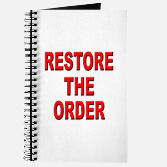 Nebraska Restore the Order Journal