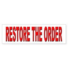 Nebraska Restore the Order Bumper Bumper Sticker