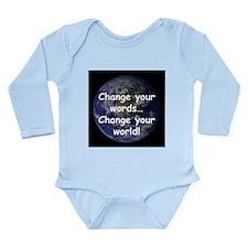 Change Your Words Long Sleeve Infant Bodysuit