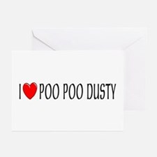 I Love Poo Poo Dusty Greeting Cards (Pk of 10)