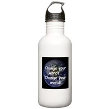 Change Your Words Water Bottle