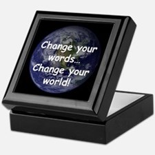 Change Your Words Keepsake Box