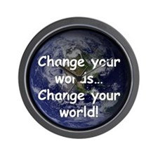 Change Your Words Wall Clock