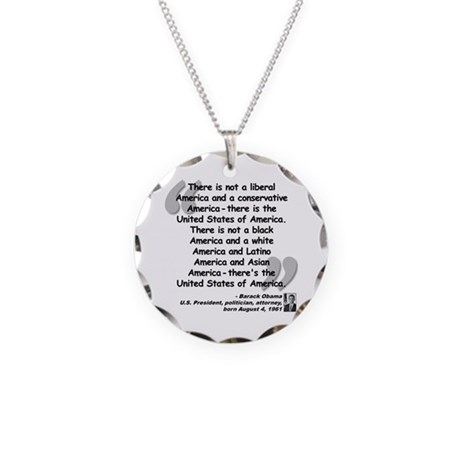 Obama America Quote Necklace Circle Charm