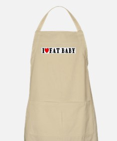 I Love Fat Baby BBQ Apron