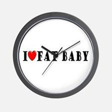 I Love Fat Baby Wall Clock