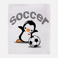 Soccer Penguin (6) Throw Blanket
