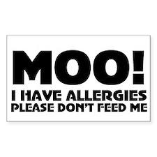 Milk Allergy Decal