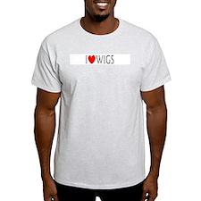 I Love Wigs Ash Grey T-Shirt