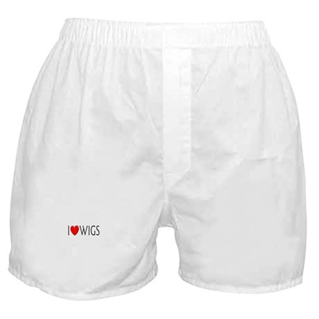 I Love Wigs Boxer Shorts