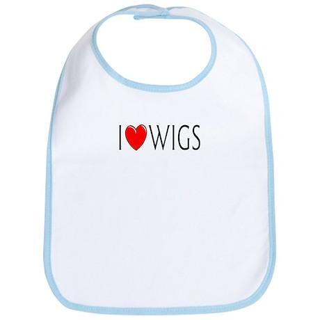 I Love Wigs Bib