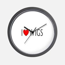 I Love Wigs Wall Clock