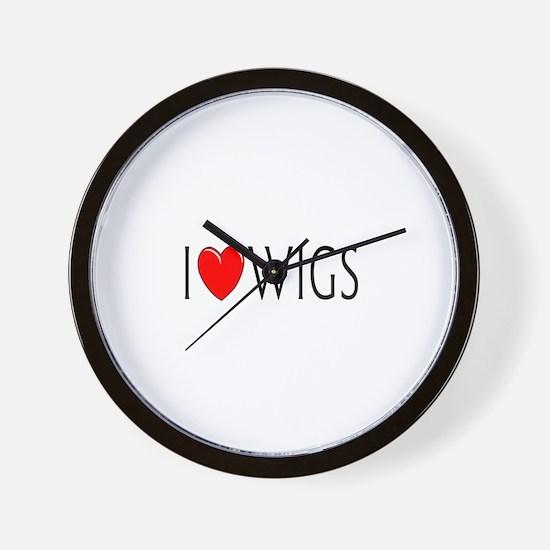 I Love Wigs Wall Clock