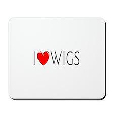 I Love Wigs Mousepad
