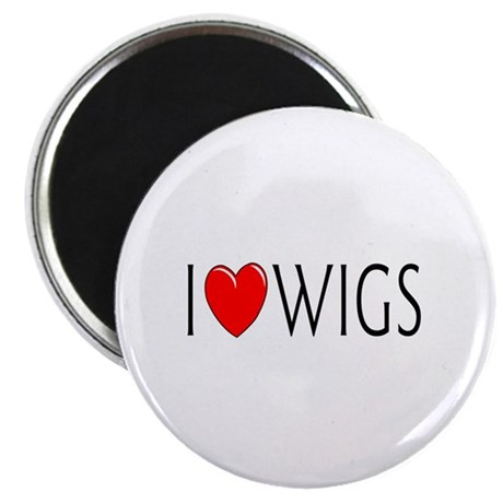I Love Wigs Magnet
