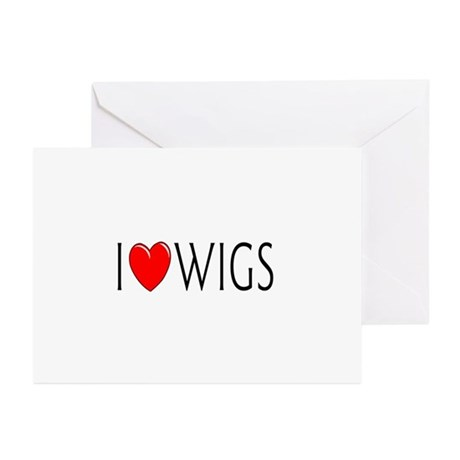 I Love Wigs Greeting Cards (Pk of 10)