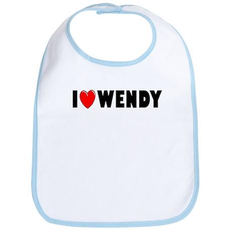 I Love Wendy Bib