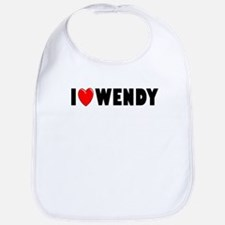 I Love Wendy Bib