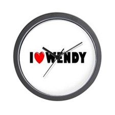 I Love Wendy Wall Clock