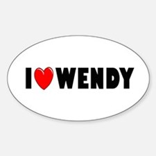 I Love Wendy Oval Decal