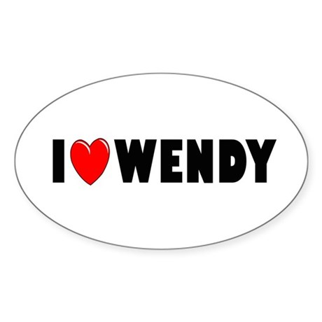I Love Wendy Oval Sticker