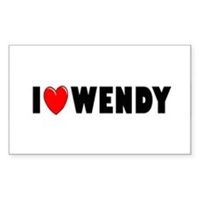 I Love Wendy Rectangle Decal