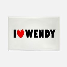 I Love Wendy Rectangle Magnet