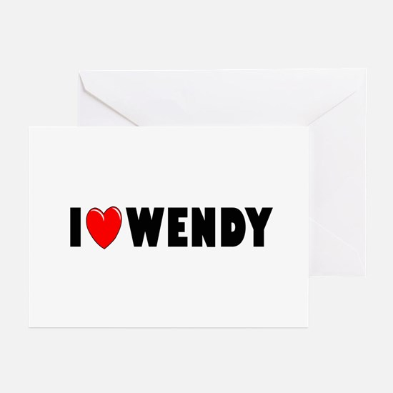 I Love Wendy Greeting Cards (Pk of 10)