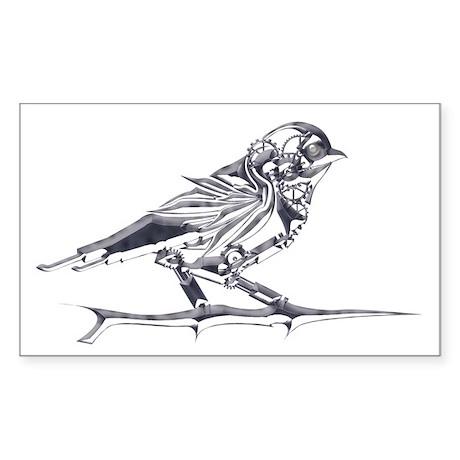 Industrial Finch (silver) Sticker (Rectangle 50 pk