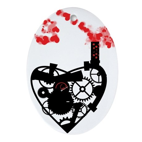 Industrial heart Ornament (Oval)
