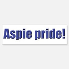 Aspie Pride! Bumper Bumper Bumper Sticker