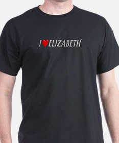 I Love Elizabeth Black T-Shirt