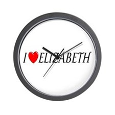 I Love Elizabeth Wall Clock