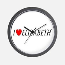 I Love Elizabeth Wall Clock