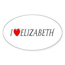 I Love Elizabeth Oval Decal
