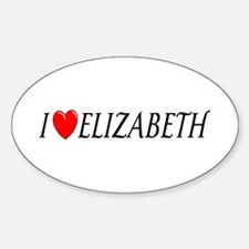 I Love Elizabeth Oval Decal