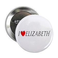 I Love Elizabeth Button