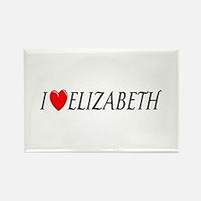 I Love Elizabeth Rectangle Magnet