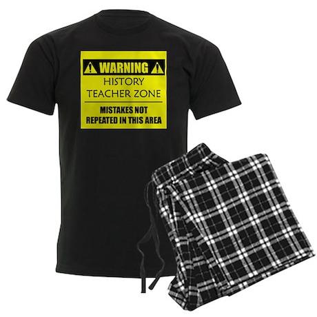 WARNING: History Teacher Men's Dark Pajamas