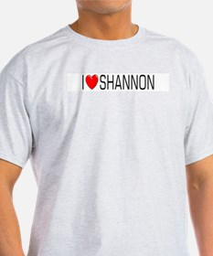 I Love Shannon Ash Grey T-Shirt