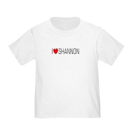 I Love Shannon Toddler T-Shirt