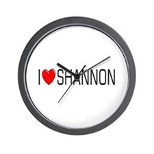 I Love Shannon Wall Clock